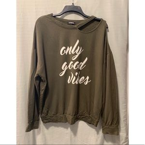 """Express Hoodie """"Good Vibes Only"""""""